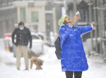 Winter Storm Nor'easter Aftermath in New York City