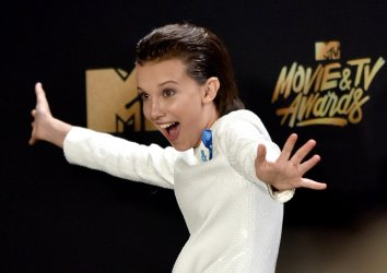 Millie Bobby Brown wins award at the 2017 MTV Movie & TV Awards in Los Angeles