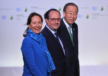 Royal, Hollande and Ban Ki-moon at Opening of UN Climate Summit Near Paris