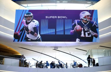 The Mall of America media headquarters for Super Bowl LII