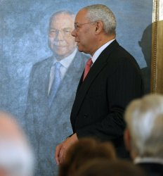 Former Sec. State Powell's official portrait unveiled at State Department in Washington