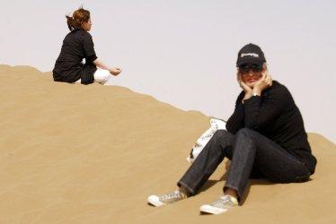 Iranians spend time in Dasht-e Kavir desert