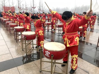 China's government throws a cultural performance in Beijing, China