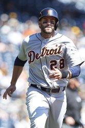 Detroit Tigers J.D. Martinez Eyes Home Plate Before Scoring