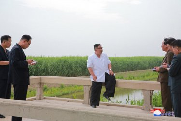 North Korean Leader Kim Jong Un Visits Sindo County, North Phyongan Province