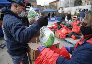 Catholic Charities Distribute 900 Thanksgiving Turkeys in New York