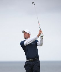 Rory Mcllrroy on the 1st day of the Open Championship at Royal Portrush
