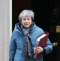 Theresa May leaves No.10 Downing St