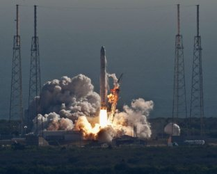Falcon 9 launches from Cape Canaveral, Florida