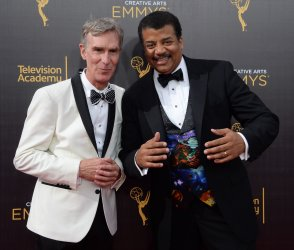 Bill Nye and Neil deGrasse Tyson attend the Creative Arts Emmy Awards in Los Angeles
