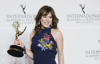 Anna Friel  at the 45th International Emmy's