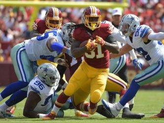 Redskins running back Matt Jones