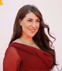 Mayim Bialik attends the 64th Primetime Emmy Awards in Los Angeles
