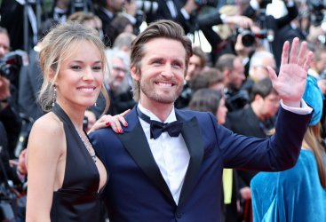 Philippe Lacheau and Elodie Fontan attend the Cannes Film Festival