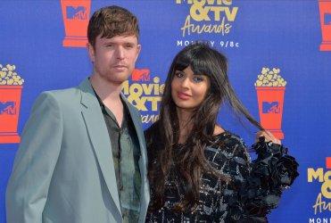 James Blake and Jameela Jamil attend the MTV Movie & TV Awards in Santa Monica, California