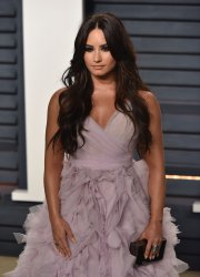 Demi Lovato arrives for the Vanity Fair Oscar Party in Beverly Hills