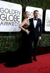 Blake Lively and Ryan Reynolds attend the 74th annual Golden Globe Awards in Beverly Hills