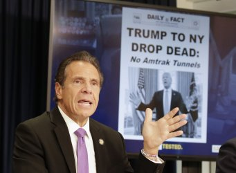Governor Andrew Cuomo Holds a Briefing in New York