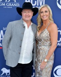Becca Lawrence and Tracy Lawrence attend the Academy of Country Music Awards in Las Vegas