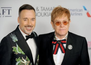 Sir Elton John arrives at the Elton John AIDS Foundation
