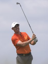 Rory McIlroy during a practice round at the U.S. Open Championship at Erin Hills