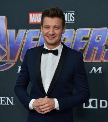 """Jeremy Renner attends """"Avengers: Endgame"""" premiere in Los Angeles"""
