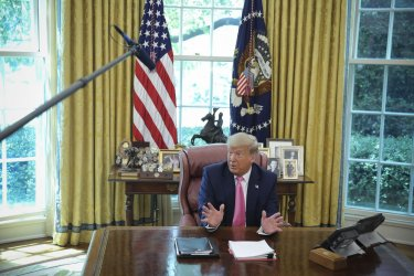 President Trump Speaks at the White House.