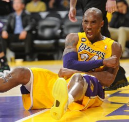 Los Angeles Lakers play Boston Celtics in Los Angeles