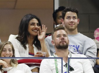 Nick Jonas and Priyanka Chopra at the US Open