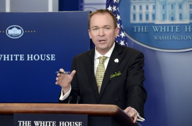 Nation's budget director Mick Mulvaney speaks about the 2017 budget