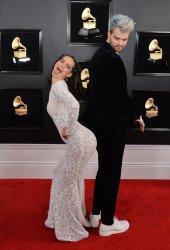Tucker Halpern and Sophie Hawley-Weld, Sofi Tukker arrive for the 61st Grammy Awards in Los Angeles