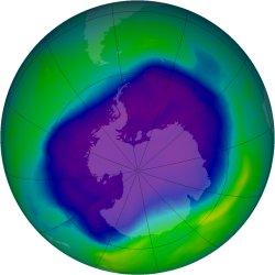 OZONE HOLE REACHES RECORD SIZES