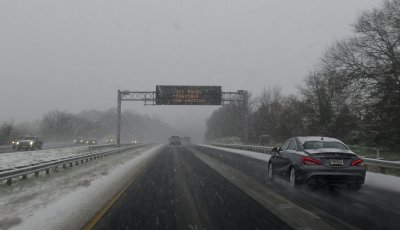 Mid Atlantic winter snow storm in Maryland