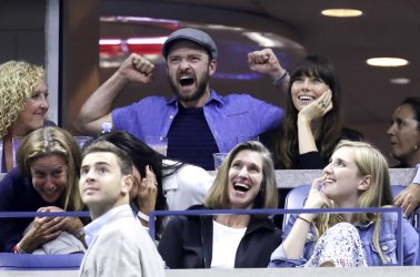 Justin Timberlake and Jessica Biel at the US Open