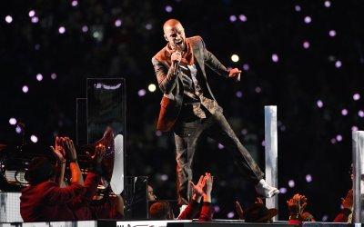 Justin Timberlake performs during Super Bowl LII in Minneapolis