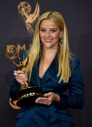 Reese Witherspoon wins award at the 69th Primetime Emmy Awards in Los Angeles