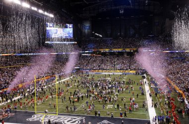 Giants celebrate winning Super Bowl XLVI