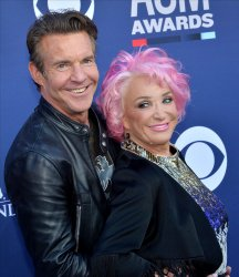 Tanya Tucker and Dennis Quaid attend the Academy of Country Music Awards in Las Vegas
