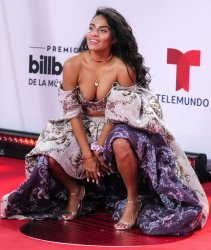 Jessie Reyez  walks the red carpet at the 2020 Latin Billboard Awards in Sunrise, Florida