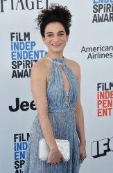 Jenny Slate attends Film Independent Spirit Awards in Santa Monica, California