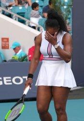 Williams at the Miami Open in the Hard Rock Stadium in Miami Gardens, Florida