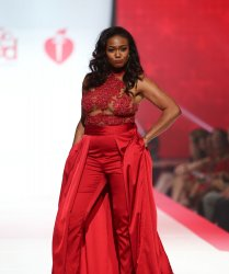 Tatyana Ali at American Heart Association's Go Red For Women Show