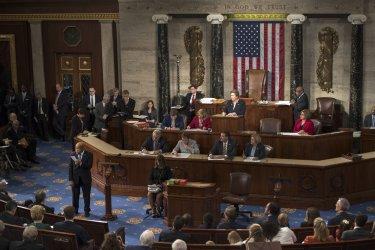 Rep. John Lewis Votes for Pelosi in Washington, D.C.
