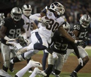 Rams Todd Gurley II runs against Raiders