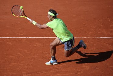 Rafael Nadal plays his men's third round match at the French Open