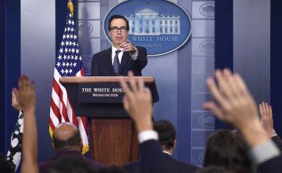 Treasury Secretary Mnuchin announces possible sanctions against Turkey at White House