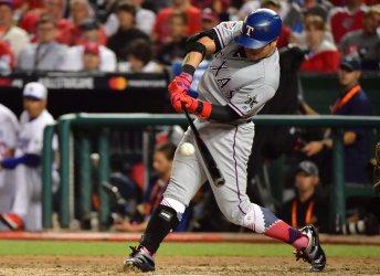 Rangers' Shin-Soo Choo hits single during MLB All-Star Game in Washington, DC