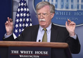 John Bolton attends White House daily press briefing