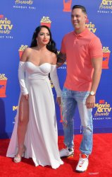 Angelina Pivarnick and Chris Larangeira attend the MTV Movie & TV Awards in Santa Monica, California
