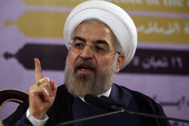 President Rouhani speaks on Iraqi situation in Tehran, Iran